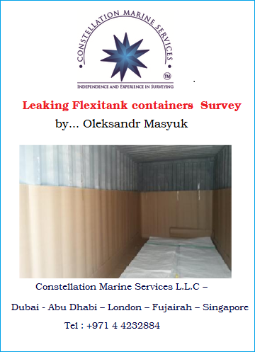 Leaking flexitank containers survey
